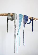 Ozdoby do vlasov - Letné ľanové čelenky do vlasov - farby zeme (Olivová) - 12216024_