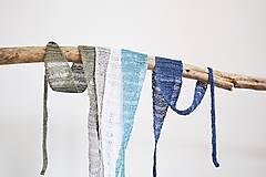 Ozdoby do vlasov - Letné ľanové čelenky do vlasov - farby zeme (Olivová) - 12216025_