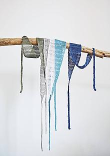 Ozdoby do vlasov - Letné ľanové čelenky do vlasov - farby zeme - 12216024_