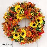 Dekorácie - Veľký jesenný veniec 44 cm - 12216384_