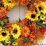 Dekorácie - Veľký jesenný veniec 44 cm - 12216397_