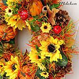 Dekorácie - Veľký jesenný veniec 44 cm - 12216401_