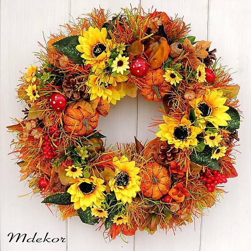 Veľký jesenný veniec 44 cm