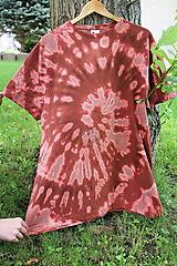 - Tričko _T-shirt_batik_2XL_uni_brown - 12216394_
