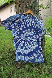 Tričká - Tričko _T-shirt_batik_L_uni_blue - 12215792_