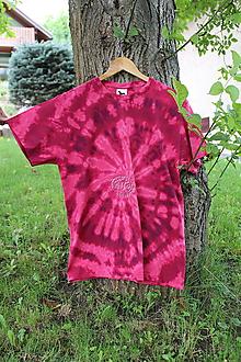Tričká - Tričko _T-shirt_batik_L_uni_red - 12216113_