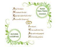 Grafika - Svadobné oznámenie formou básničky na Vaše mená - 12217036_