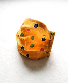 Rúška - Tenké bavlnené rúško detské, veselé bodky - 12215240_