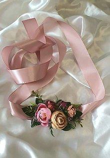 Opasky - Kvetinový opasok v pastelových farbách - 12214818_
