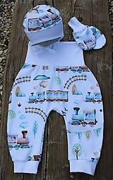 Detské oblečenie - Detské tepláky pre najmenších- vláčiky - 12215084_