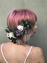 """Ozdoby do vlasov - Kvetinový polvenček """"sumračné bozky"""" - 12215075_"""