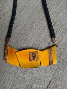 Náhrdelníky - Žltý náhrdeľník - 12216880_