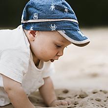 Detské čiapky - Letná šiltovka chrobáčiky - 12217767_