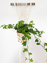 Dekorácie - Makramé záves na kvet Kiara - 12214708_