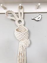 Dekorácie - Makramé dekorácia - zajačik - 12214726_