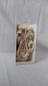 Dekorácie - Mačka, kocúr - vyskladané z knihy - 12215499_
