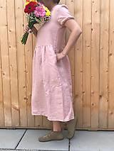 Šaty - Jemná - variabilné ľanové šaty - 12215176_