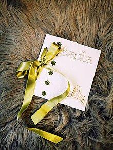Papiernictvo - Blahoželanie k svadbe - zelená - 12214808_