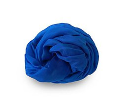 """Šály - """"royal blue""""  hodvábny šál skladom:-)) - 12215663_"""