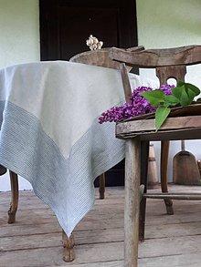 Úžitkový textil - Ľanový obrus Provensal - Stripped - 12217059_