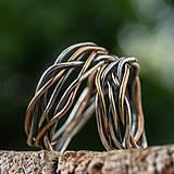 Prstene - Prepletené prúty ... svadobné obrúčky - 12217822_
