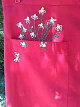 Sukne - Kapsa plná harmančeka (ľanová suknička ručne vyšívaná) - 12218422_