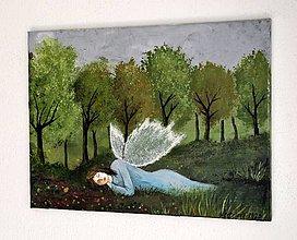 Obrazy - Maľovaný obraz - Únava - 12218488_