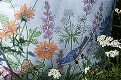 Úžitkový textil - Vankúš Lúčne kvety - 12217890_