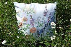 Úžitkový textil - Vankúš Lúčne kvety - 12217891_