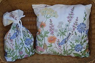 Úžitkový textil - Vrecko Lúčne kvety - 12217924_
