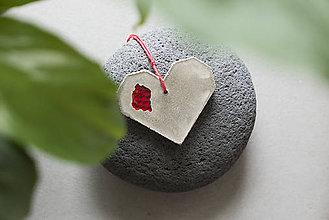 Náhrdelníky - Betónové srdce - 12218575_