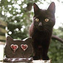 Nádoby - Kvetináč mačka z keramiky - 12219401_