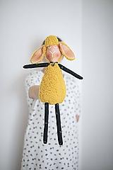 Hračky - Žltá Ovka ušatá s čerešničkami - 12219103_