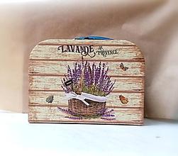 Krabičky - kufrík levanduľa - 12218657_