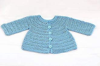 Detské oblečenie - Modrý svetrík pre novorodenca EXTRA FINE - 12219089_
