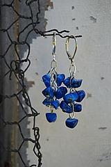 Zlomkové náušnice modré