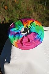 Ozdoby do vlasov - Scrunchie gumička dúhová - 12220069_
