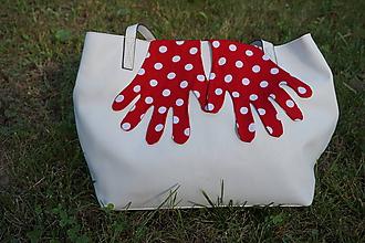 Rukavice - Úpletové rukavičky - Muchotrávkové - 12219832_