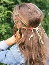 - Háčkovaná kvetinová čelenka - 12218056_