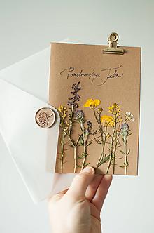 """Papiernictvo - Bylinková pohľadnica """"Pozdrav pre Teba"""" - 12217858_"""