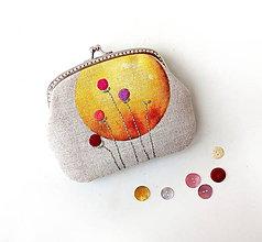 Taštičky - Peňaženka XL Žltý kruh - 12218121_
