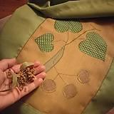 Úžitkový textil - Maxi vrece zelené Lipa motív - 12218359_