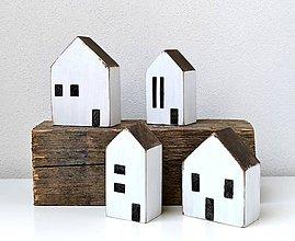 Dekorácie - Drevené domčeky-sada - 12218980_
