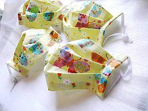 Rúška - VÝPREDAJ! Ochranné rúško detské - dvojvrstvové - skladom - 12217900_
