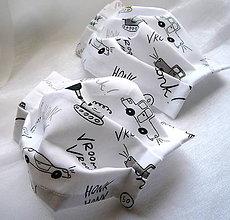 Rúška - Ochranné rúško detské - dvojvrstvové - skladom - 12219542_