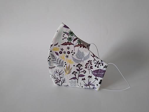 BIO bavlna dizajnové rúško rastliny tvarované dvojvrstvové