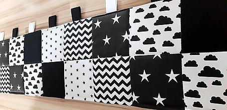 Úžitkový textil - Zástena za posteľ ... patchwork - 12220987_
