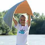 Detské oblečenie - tričko DINO - TYRKYSOVÝ -  STEGOSAURUS (dlhý/krátky rukáv) - 12221567_