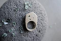 Prstene - Betónový prsteň - 12222437_