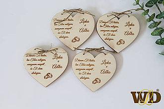 Papiernictvo - Drevené svadobné oznámenie - 12222735_